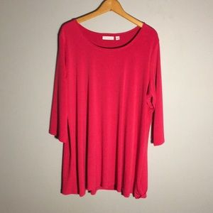 Susan Graver Liquid Knit 3/4 Sleeve Tunic